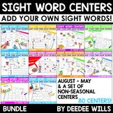 Sight Words Centers EDITABLE!