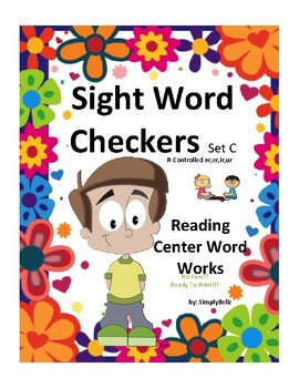Sight Words Checkers Set C (R-Controlled Words)