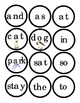 Sight Words Circles Cut Out Print 2 for Matching Game Sight Word Short Story 4pg