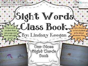 Sight Words Class Book