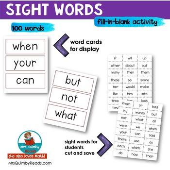 Sight Words - Cloze Activities - Grades 1-2
