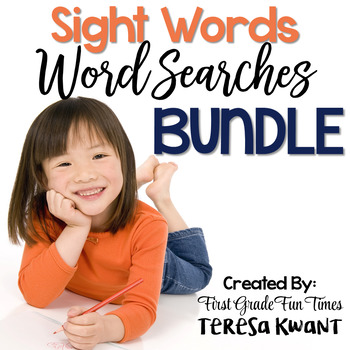 Sight Words Color Code Word Searches Editable