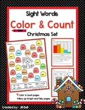 Sight Words Color & Count Christmas Set