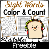 Sight Words Color & Count Freebie