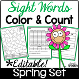 Sight Words Color & Count Spring Set