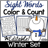 Sight Words Color & Count Winter Set