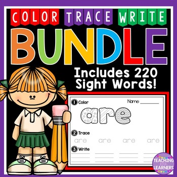 Sight Words: Color, Trace, Write