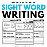 Sight Words - Color, Trace, Write, Find, Color, Cut and Glue