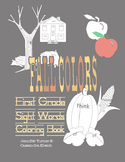 Sight Words Coloring Book - Fall