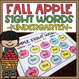 Kindergarten Sight Words Worksheets Fall Apple Theme 99 Words!