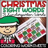 Christmas Sight Words Worksheets Kindergarten 50+ Words!