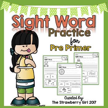 Sight Word Practice - Pre Primer