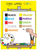 Sight Words, Colors, Elementary, SPED, worksheets, flashca