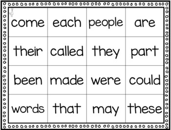 Sight Words Connect 4 (Fry Words 1-100)