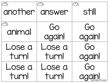 Sight Words Game: Four in a Row! (Fry Words 101-200)