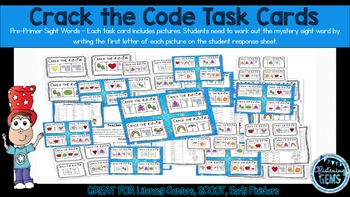 Sight Word Game - Dolch Pre-Primer Sight Words - Mystery Code