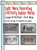 Sight Words Craftivity - Word Outlines - (Pre-Primer, Pre-