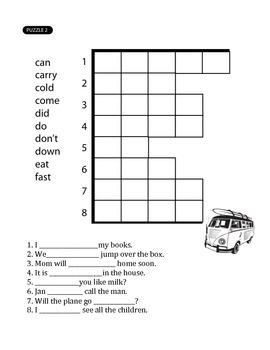 Sight Words Crossword Puzzles