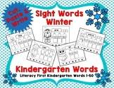 Sight Words - Cut, Paste & Write, Kindergarten Literacy Fi