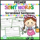 Sight Words Scrambled Sentences  PRIMER