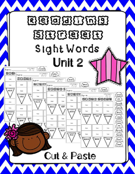 Sight Words Cut and Paste. Reading Street. Unit 2.
