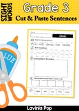 Sight Words Cut and Paste Sentences: Grade 3 Sight Words