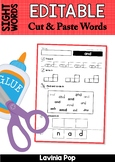 Sight Words Cut and Paste Worksheets {EDITABLE PDF}