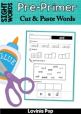 Sight Words Cut and Paste Words No Prep Word Work (Pre-Primer)