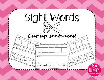 Sight Words: Cut up Sentences Pack 1