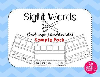 Sight Words: Cut up sentences