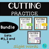 Sight Words Cutting Practice Bundle | Sets #1,2 and 3