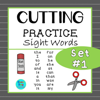 Sight Words Cutting Practice | Set #1