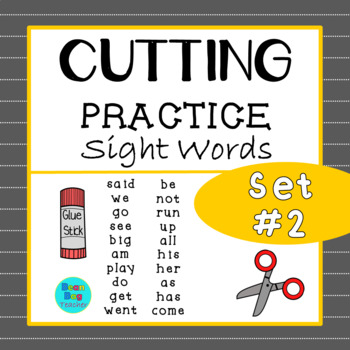 Sight Words Cutting Practice | Set #2