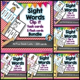 Dolch Sight Words Task Card Clip It BUNDLE