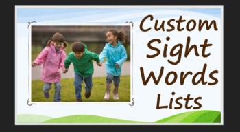 CUSTOMIZABLE SIGHT WORDS LISTS - Create word lists & Track student progress