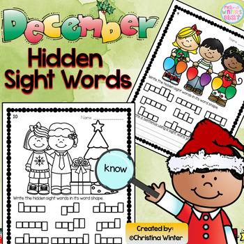 Sight Words {December Edition}