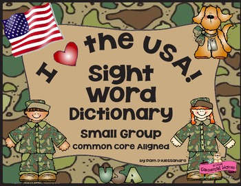 Sight Words Dictionary + Pre-K - K all Genders - Common Core