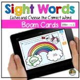 Sight Words Rainbow Digital Game Boom Cards | Distance Learning