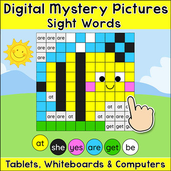 Sight Words Spring Digital Mystery Pictures - Bee, Butterfly, Ladybug, Flower