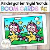 Sight Words Digital Task Boom Cards   Kindergarten