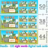 Sight Words Digital Task Cards Bundle | Boom Cards | Dista