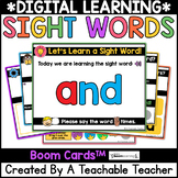 Boom Cards™️ for Sight Words   Digital Sight Words Lessons & Practice Boom Cards