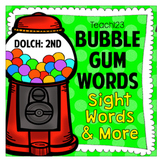 2nd Bubble Gum Sight Words and Brag Tags