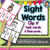 Sight Words Dolch Clip it Cards (Primer List)