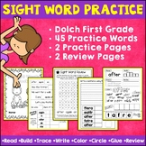 First Grade Sight Words Dolch | Practice Pages | Worksheet