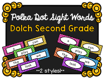Sight Words - Dolch Second Grade - Polka Dot