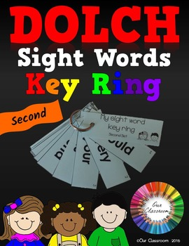 Dolch Sight Words Key Ring (Second Word List)