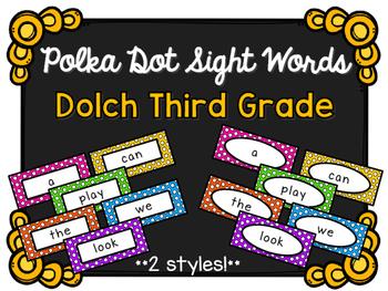 Sight Words - Dolch Third Grade - Polka Dot