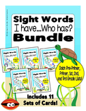 Sight Words Word List - I Have... Who Has? Game Bundle