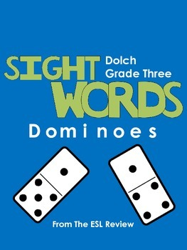 Sight Words Dominoes - Dolch Third Grade